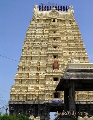 Канчипурам, гопурам храма
