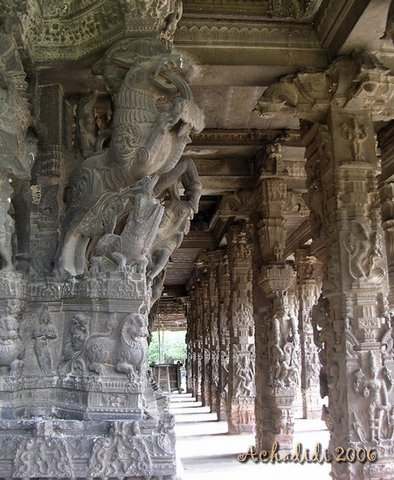 Канчипурам, храмовый зал для танцев