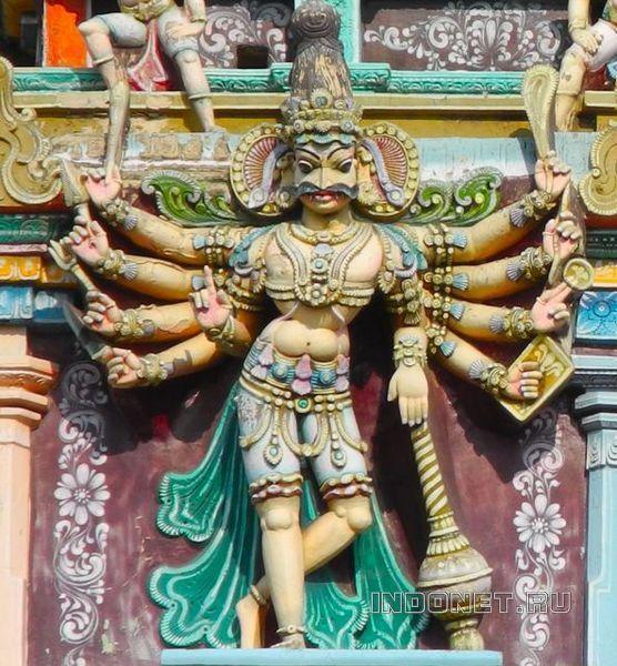 Скульптура гопурама храма Минакши, Мадураи