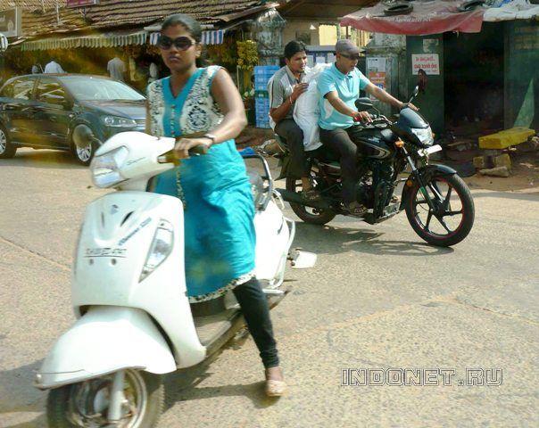 По Индии за рулем: мото-байк (мотоцикл), скутер