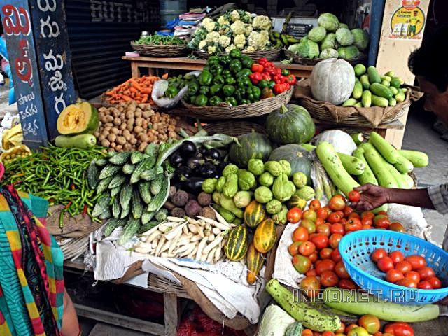 Цены на овощи и фрукты в индии