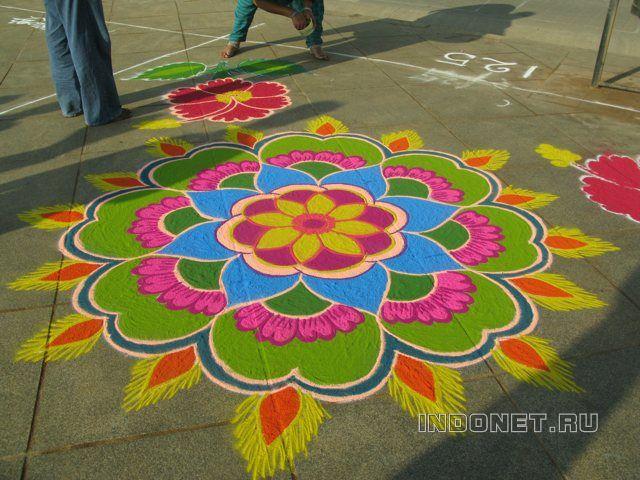 Южная Индия. Пуккалам и ранголи