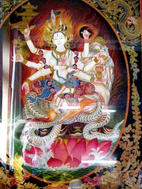 Кали, тибетская танка