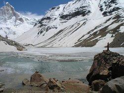 Ледяное озеро в Гималаях
