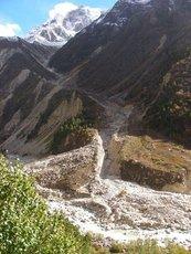 Гималаи, обвал в горах