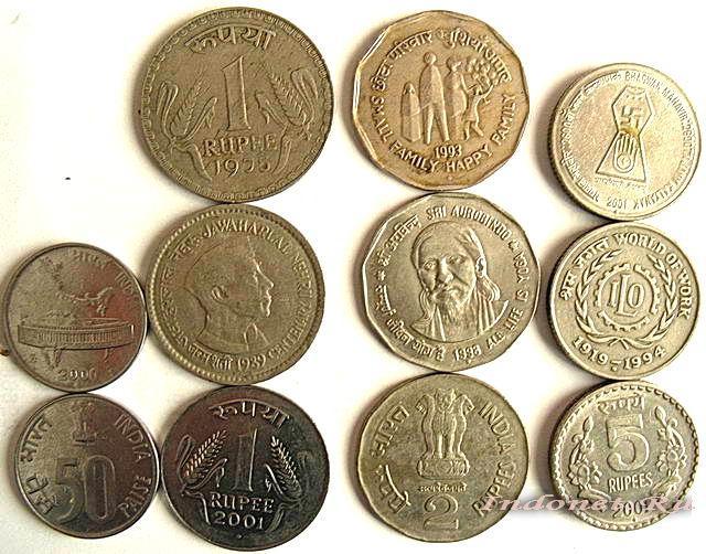 Индийские рупии, монеты
