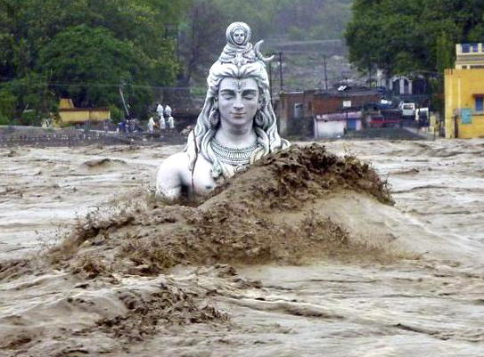 Шива и Ганга, мифология наводнения