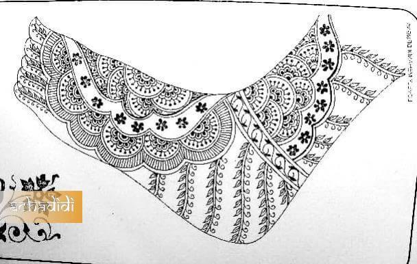 дизайн мехенди для ног