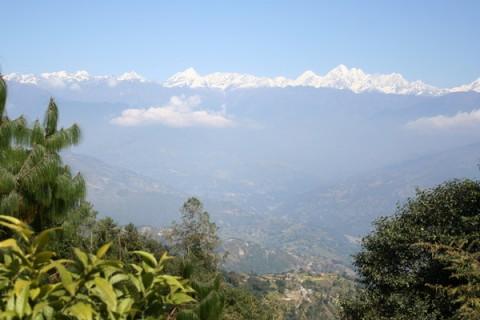 Нагаркот. Вид на Гималаи