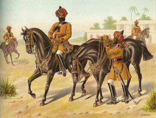 Офицеры 1го Бенгальского уланского полка