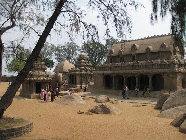 храмы - колесницы Панча Ратха, Махабалипурам
