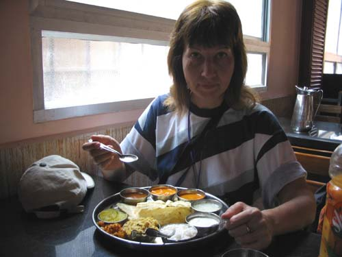 Индийская еда в Шрингери