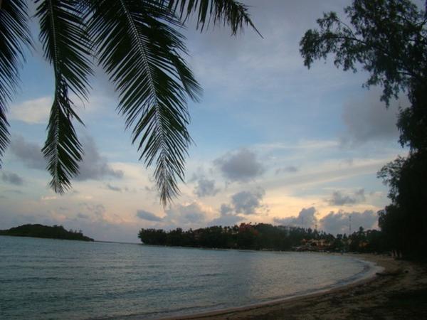 На пляже в Самуи. Закат в раю.