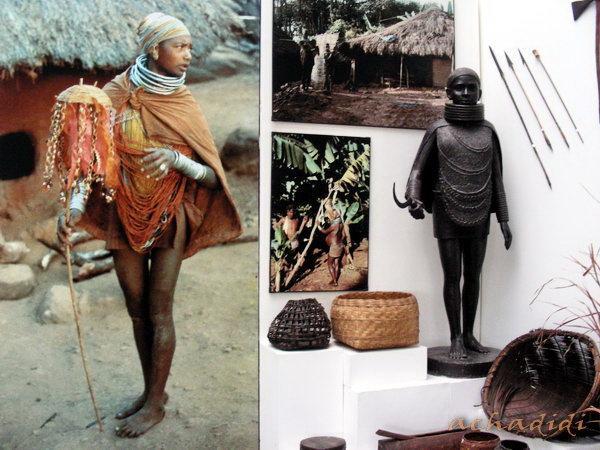 Бхопал. Адиваси - индийский абориген или просто человек из племени. Экспозиция музея антропологии