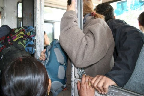 "От Митрия: среднестатистический индийский автобус загружаеццо ""под завязку"". На пути из Джанси в Каджурахо"