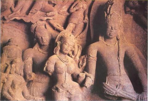 Брак бога Шивы и Парвати - пещеры Элефанты