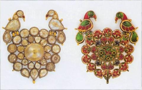 индийский орнамент с птицами