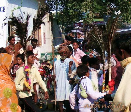 Дипавали на улицах Каджурахо