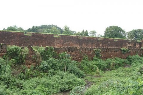 Танджор. Стены форта