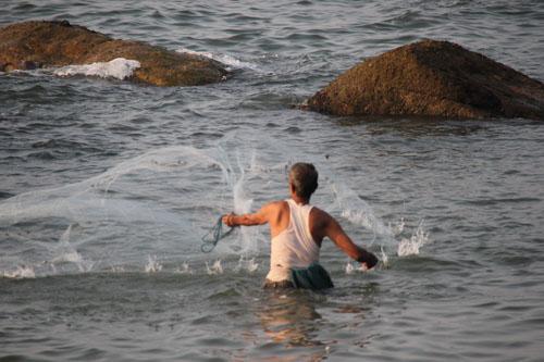 Рыбак в Агонде