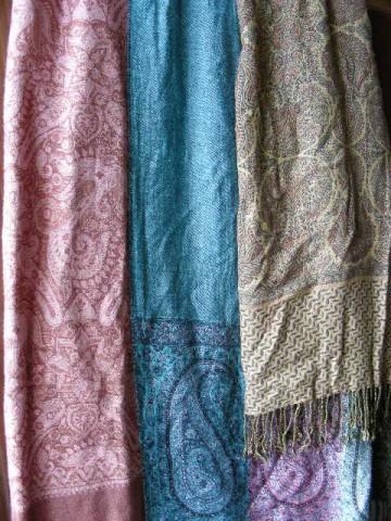 Индийские шали, вискоза