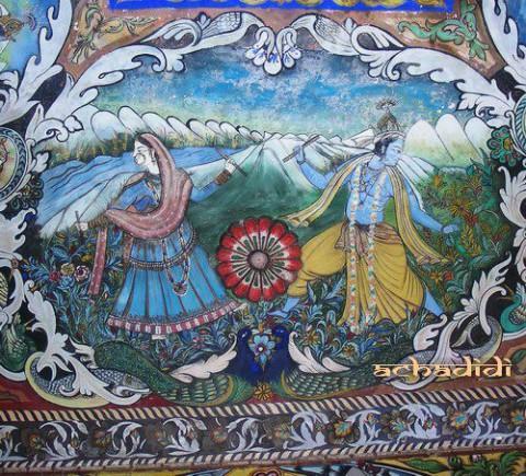 Искусство Кангры, росписи храма Баджешвари