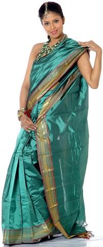 Канчипурамское сари exoticindiaart.com цена $180.00