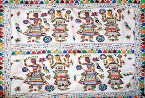 Традиционная вышивка Кантха