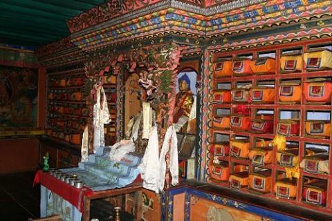 Библиотека монастыря Дубди