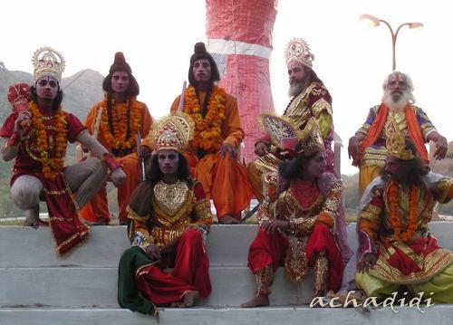 Душера в Маунт абу, представление из Рамаяны