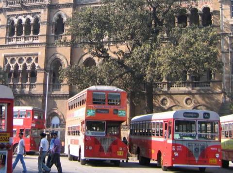 Автобусы Мумбаи (Бомбея), фото Н.Оленцовой