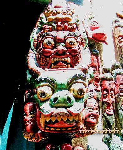 Непальские маски для ужасной сказки;)