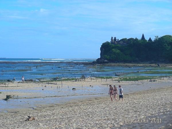 Бали, пляж Нуса Дуа, отлив
