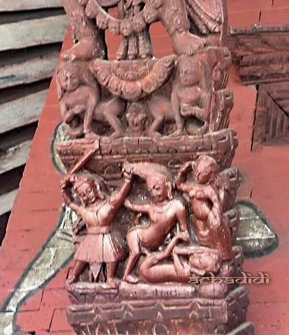 Храм Кали, адьюльтер и жена со скалкой