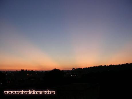 Закат в Ришикеше