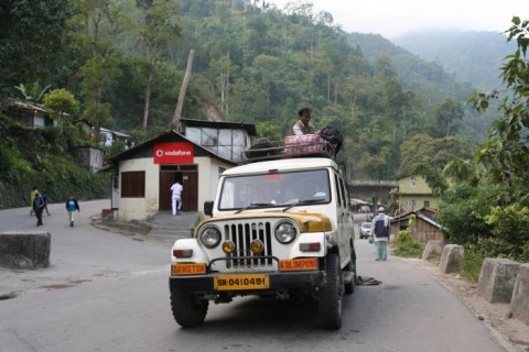 Сикким. Дорога из Калимпонга в Гангток