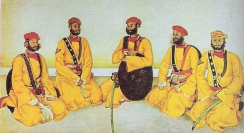 """""""Желтые парни"""" Дж.Скиннера. Индийская миниатюра нач.19 века"""