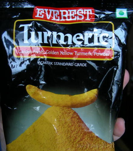 Турмерик - Куркума, пакетик с порошком, 100 грамм, 23 рупии
