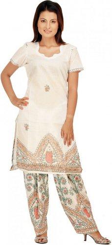 Белый сальвар камиз, магазин exoticindiaart