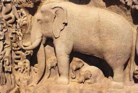 Нисхождение Ганги, Мамаллапурам, 7-й век