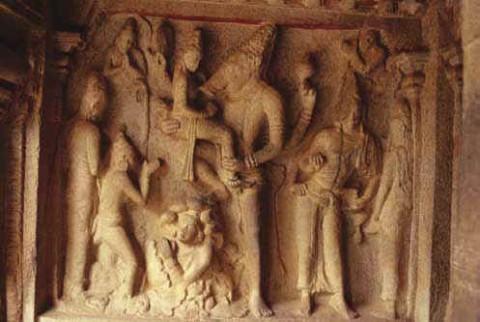 Вараха Аватара, пещера Варахи, Мамаллапурам