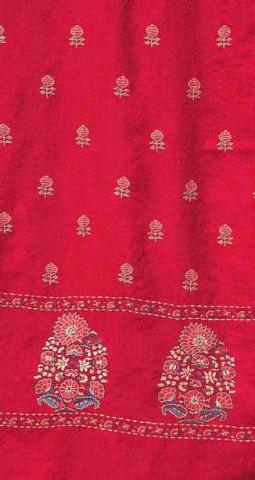 Эстетично расшитая шаль Пашмина яркой расцветки.