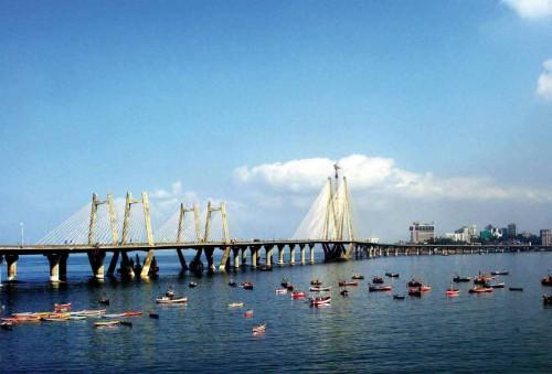 Фото моста Бандра-Ворли