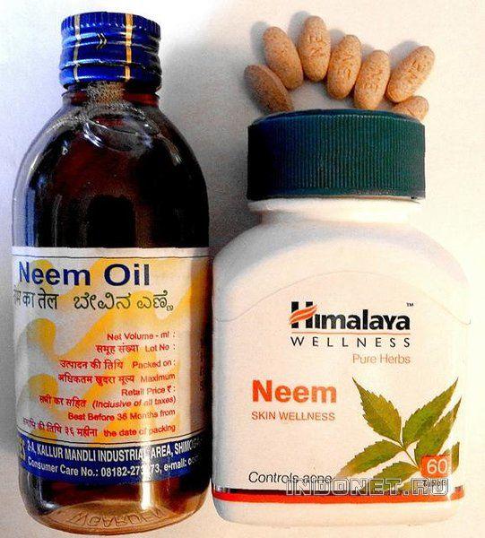 Фото Нима (маргозы) - масло и таблетки.