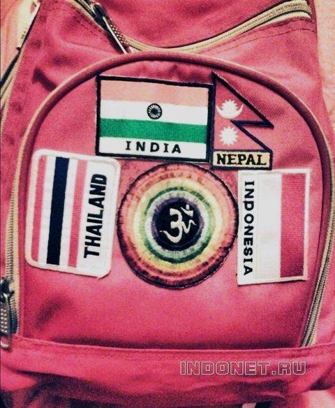 мой рюкзак - путешественник по Азии :)