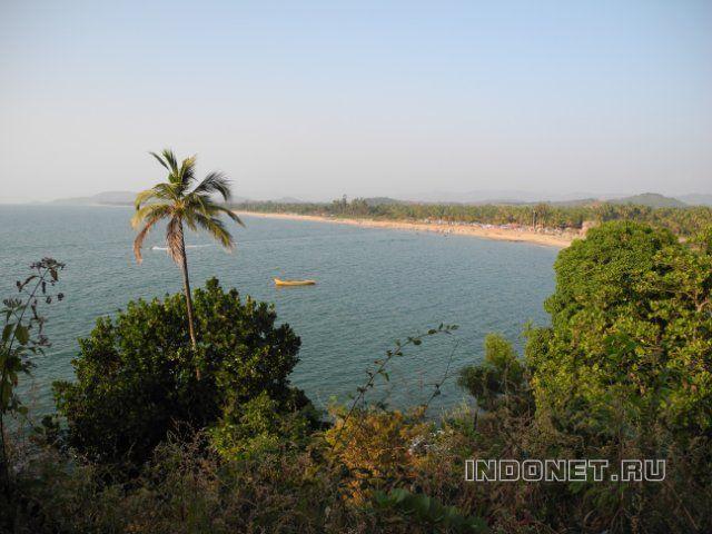 Гокарна, вид на пляж и море