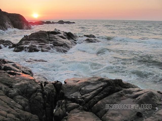Гокарна, закат на море
