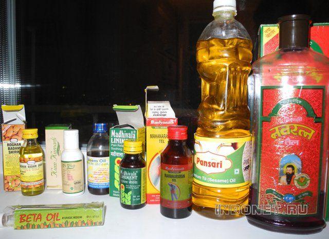 индийские масла: аюрведа и массаж
