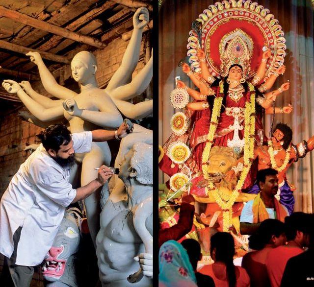 Изображение Дурги для фестиваля Дурга Пуджа