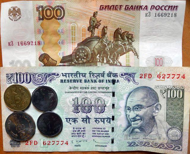 курс индийской рупии за российский рубль - наглядное фото